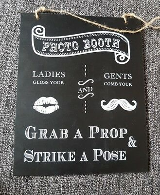 Photo Booth Prop Sign inc some stick props