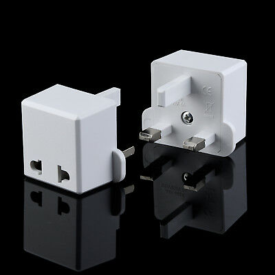 Uk 3 Pin Plug Visitor Travel Power Adaptor Converter For Usa Eu Us To Uk Plug