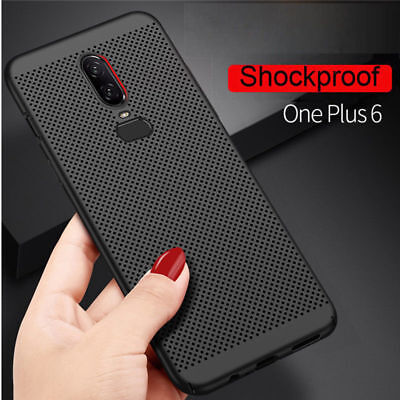 Ultra Thin Heat Dissipation Breathly Anti-knock Cover Case For OnePlus 6 5T 6T 5