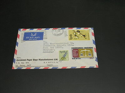 Uganda 1970s? airmail cover to Finland *2721