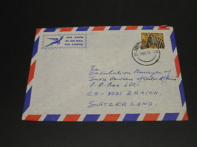 Zimbabwe 1979 airmail cover to Switzerland *3031