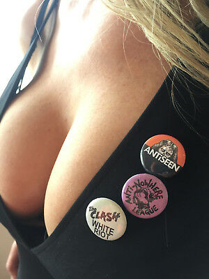 The Clash, Anti Nowhere League, Antiseen, Punkrock, Punk, Music, Pins, Badges