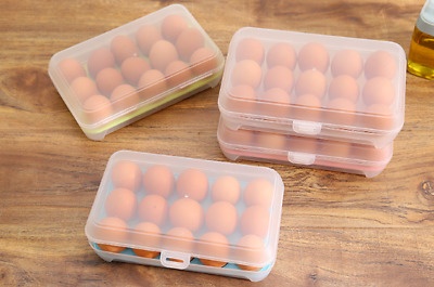 15 Eggs Plastic Refrigerator Egg Storage Box Holder Food Storage Container Case