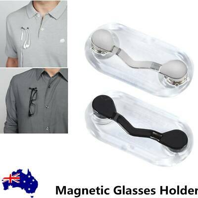 AU Magnetic Glasses Holder Readerest Spectacles Sunglasses Brooch Chain Cord
