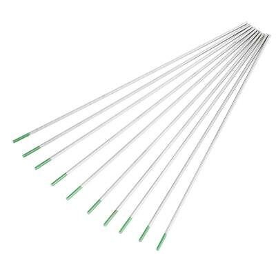 10X Pure Tungsten Electrodes WP Green Tip 1.0/1.6/2.0/2.4/3.2mm for Tig Welding