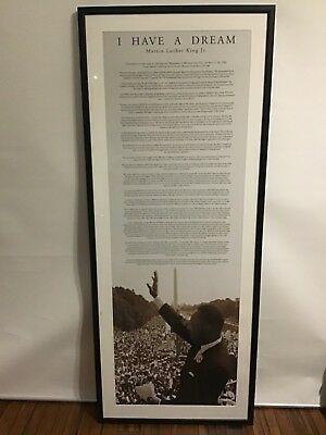 Framed poster 'I have a dream' speech Martin Luther King Jr Extra Large