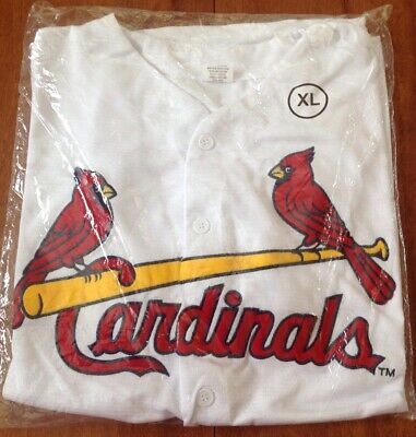 St. Louis Cardinals Home White Embroidered Jersey SGA XL 9/1/18 NEW