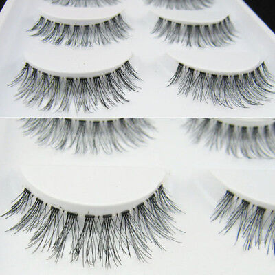 5pairs Fake Eyelashes DEMI WISPIES False Lashes Natural Long MakeUp Eye