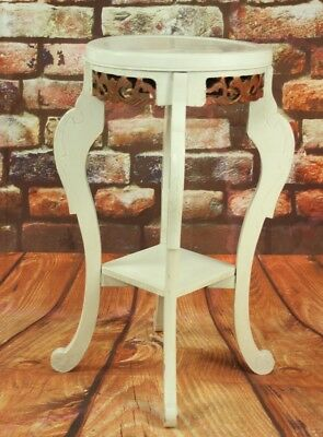 Antique Painted Shabby Chic Plant Stand - FREE Shipping  [PL4592]