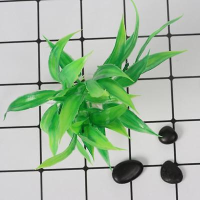 2x Water Aquatic Artificial Plant Bamboo Plastic Fish Tank Aquarium Decor_PRO