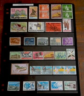 Indonesia 33 Mixed Used Stamps 1960s - 1990s