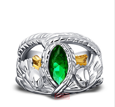 Aragorn's Ring of Barahir Lord of The Rings 925 Sterling Silver Popular Gift USA