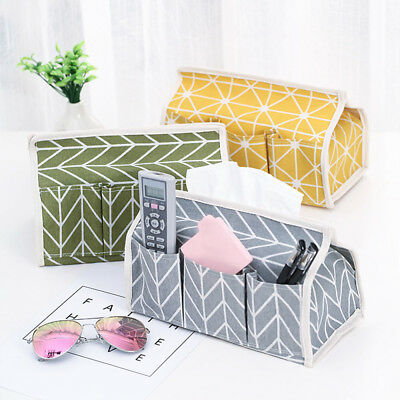 New Pastoral Wind Cotton Linen Storage Box Tissue Holder Desktop Tissue Cover CV