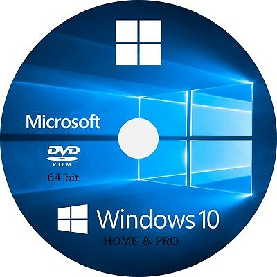 WIN 10, 64 Bit OEM install System Recovery Software Disc DVD - 2019 x 1!