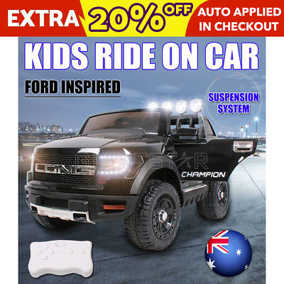 Ford Inspired Electric Kids Ride on Car Suspension Toys Battery Remote 12V