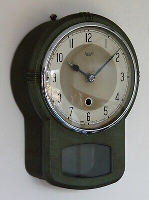 Vintage 26cm Smiths Enfield Wall Clock - Metal Industrial Shabby Chic Retro Gift