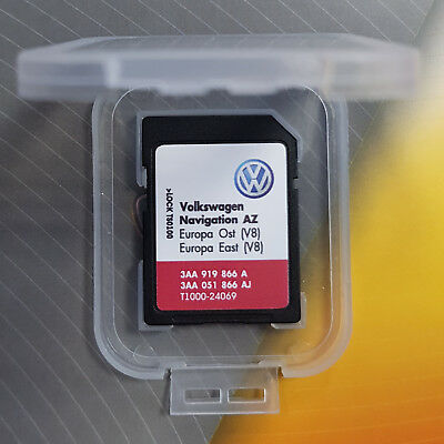 NEW VW RNS 315 EAST OST Europe V8 Navigation map SD card RNS315 SEAT SKODA SAT