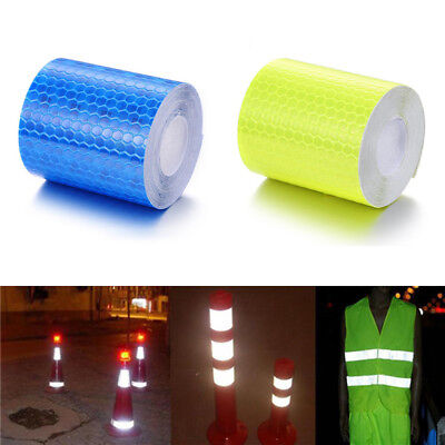 UK Fluorescent Reflective Film Sticker Safety Warning Conspicuity Tape 3m*5cm