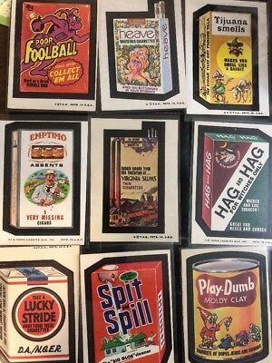 (9) Vintage 1970's Wacky Packages Stickers Free Ship