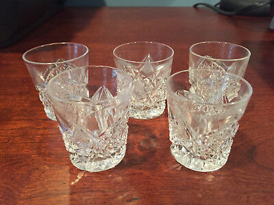 Antique EAPG Pressed Cut Glass 5pc Beverage Water Set Tiny Glasses~Child's Toy