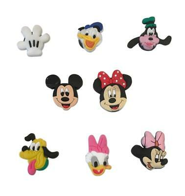 Disney Mickey Minnie Mouse Friends Refrigerator Magnets Set of 8 PVC Characters