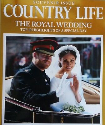 UK COUNTRY LIFE Magazine SOUVENIR ISSUE  MEGHAN MARKLE & PRINCE HARRY 2018