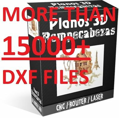 3D PUZZLE MORE THAN 15000+ DXF files COLLECTION for CNC ROUTER & LASER  CUTTING