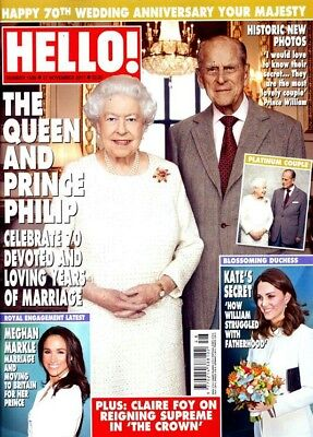 UK HELLO! Magazine, November 27, 2017 - Kate Middleton, Meghan Markle, The Queen