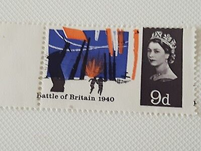 Gb 9D Battle Of Britain Stamp With Rare Colour And Perforation Shift Errors