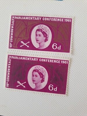 Gb 1961 Commonwealth Parliamentary Conference With Missing Gold Error