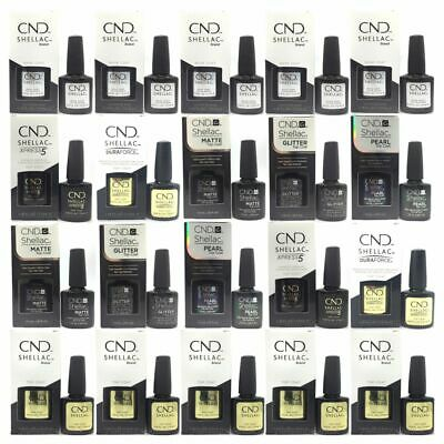 CND Shellac Nail Polish Top and Base Coat DURAFORCE ORIGINAL XPRESS5 7.3mL LARGE