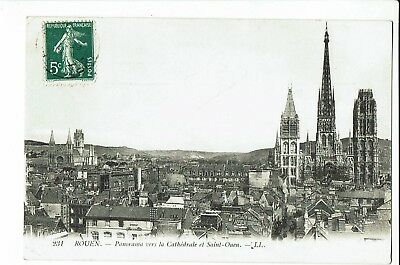 CPA-Carte postale-  France -Rouen - Panorama-1909 -  S1901