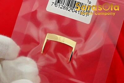 100% Authentic Omega Steel Polished/Gold Plat PVD Watch Band Buckle 18/20 mm