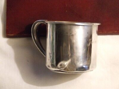 Antique Childs Sterling Silver Cup With Handle