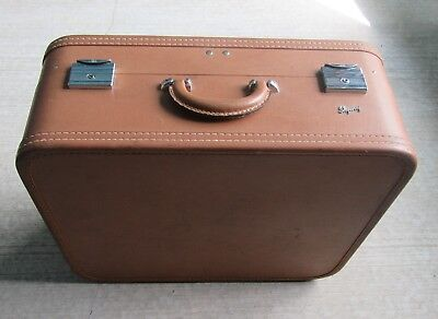 Antique Vintage Skyway Hard Shell Travel Suitcase Luggage