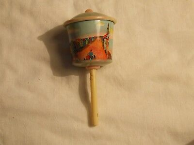 Childs Vintage Celluloid Or Plastic Rattle  Circa 1944
