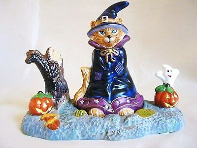 PartyLite Halloween Witch Cat Pumpkin Ghost Tealight P7344 Candle Holder Snuffer