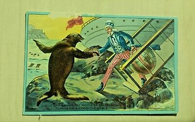 1915 PPIE Expo Pacific Panama Uncle Sam Post Card.  Nice!!