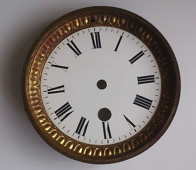 Old French Clock Dial 96mm diameter