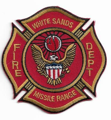 Unused White Sands New Mexico Missile Range Fire Department Patch
