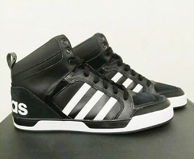ADIDAS NEO RALEIGH 9tis MID Men's Basketball Shoes AW5407 Black White Size 11.5