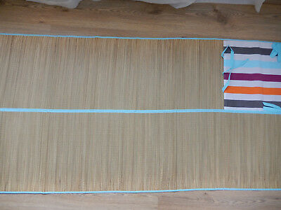 BRAND NEW STRIPED PICNIC CARRYING BEACH MAT LARGE SIZED  180x 81cms