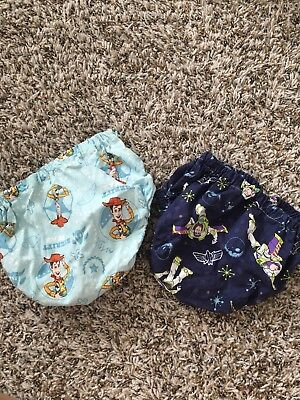 Toy Story Diaper Cover Bundle Buzz Lightyear Woody Bloomers Cloth Diaper Cover