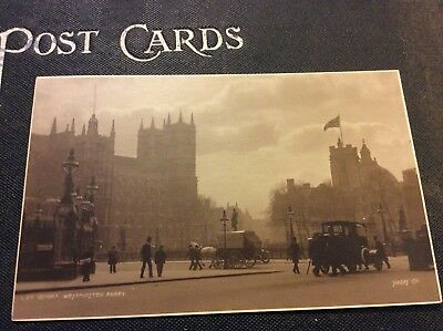 London, England Great Britain Westminster Abbey Antique Real Photo Postcard RPPC