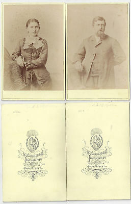 Two 1882 Galesburg Illinois Identified Family Cabinet Cards