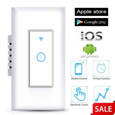 1 Gang Smart WIFI Light Wall Switch Works Home Safety life for Ewelink APP US