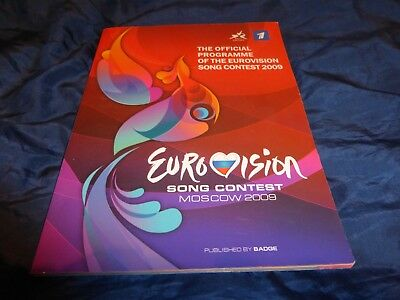 EUROVISION 2009 Moscow OFFICIAL PROGRAMME 112 pages - soft cover  A4 size