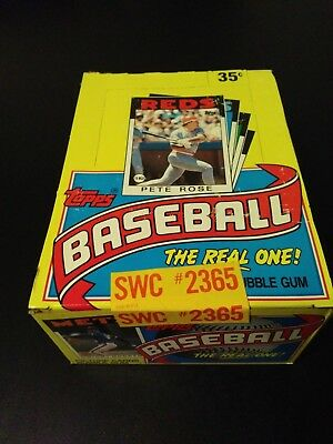 1986 TOPPS BASEBALL UNOPENED WAX BOX (FASC - From a sealed case) Free Shipping