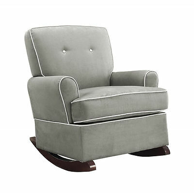 Nursery Rocking Chair Baby Toddler Child Nursing Rocker Padded Comfortable Gray