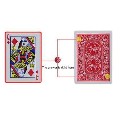 1set Magic Playing Cards Poker Game Paper Illusion Gimmick Props Kid Puzzle Toys